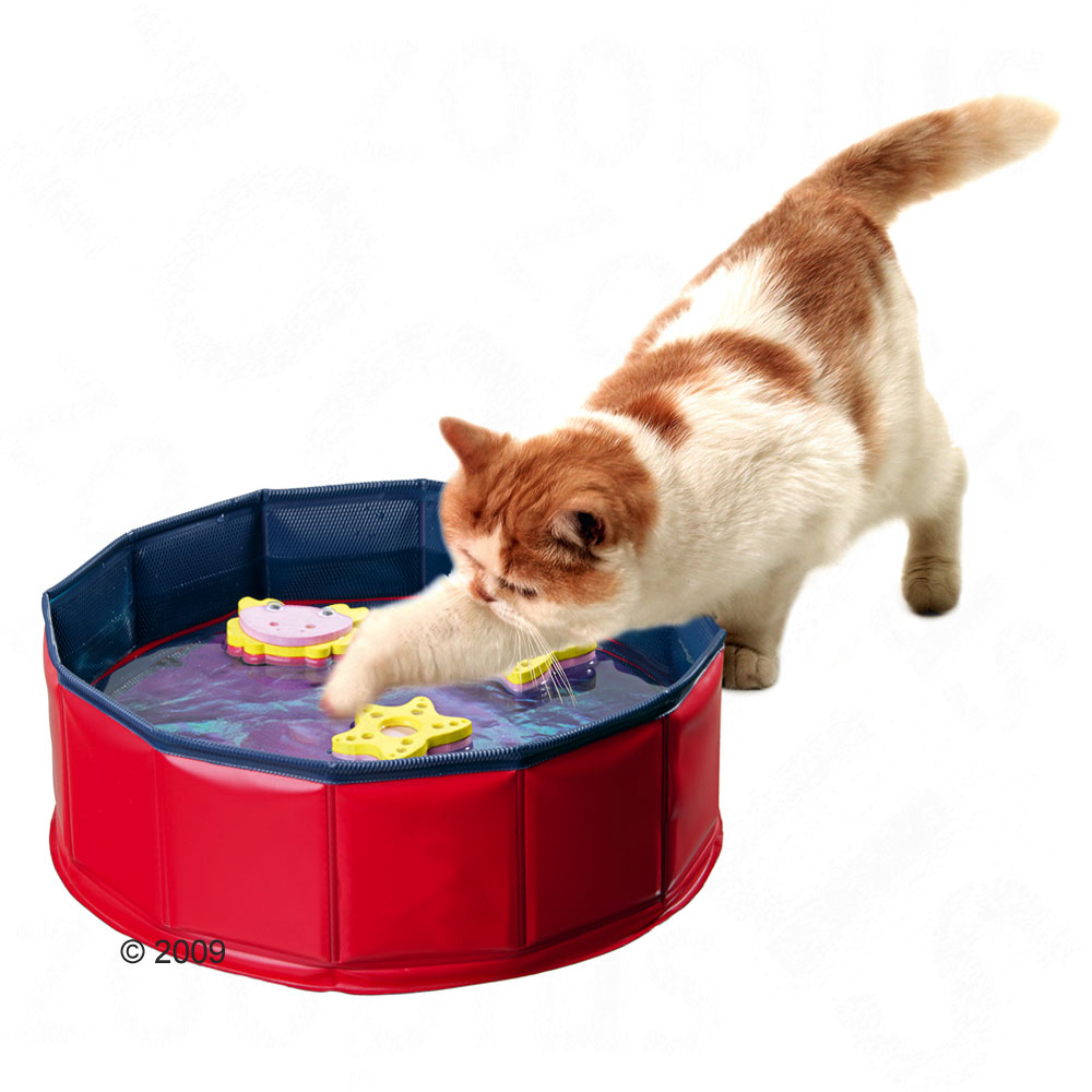 Kitty lake approx 30 x 10 cm of 138880 0 for Swimming fish cat toy