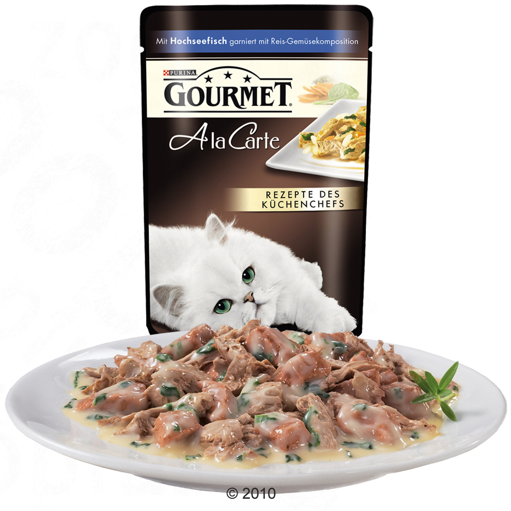 Gourmet A la Carte 12 x 85 g Fish with Rice and Vegetables of Zooplus co