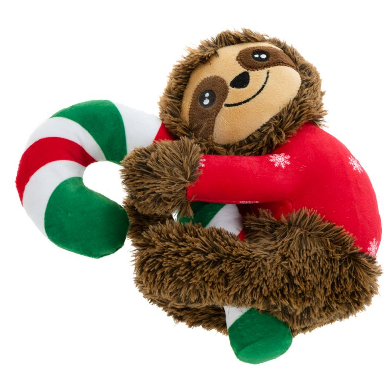 cuddly sloth dog toy christmas