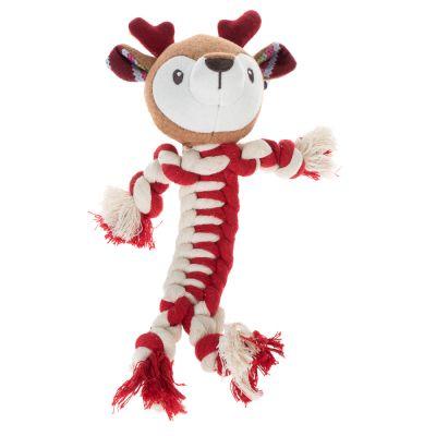 dog rope toy reindeer