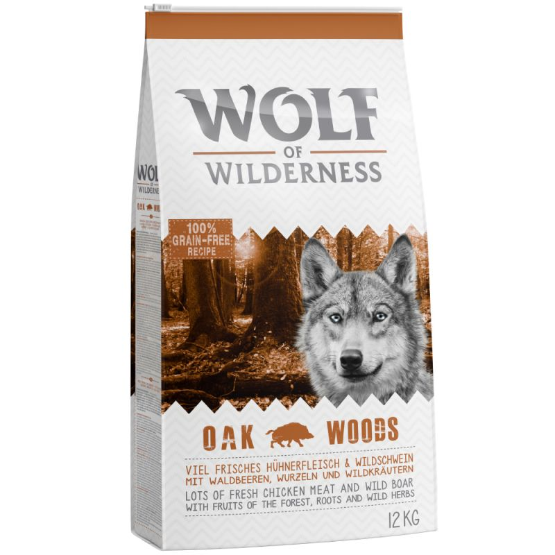 wolf of wilderness adult oak woods dog food